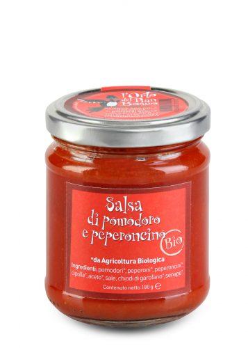 Salsa di pomodoro e peperoncino